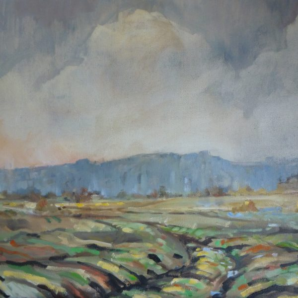 Cold Day in Coldwaltham - Oil on Paper, measurements A3 297 x 420 mm