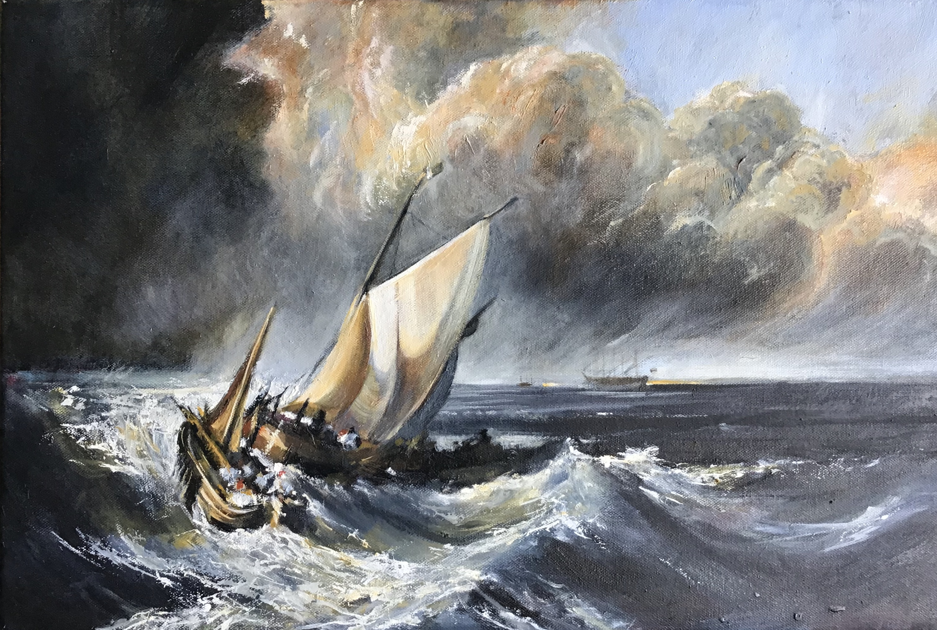 Dutch Boats in a Storm